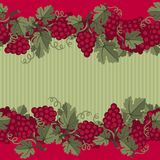 Seamless pattern with grapes Stock Photos