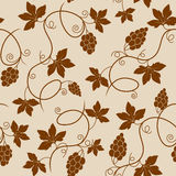 Seamless pattern with grapes Royalty Free Stock Photo