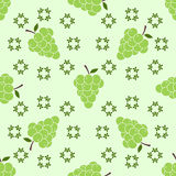Seamless pattern with grapes motive Stock Photo