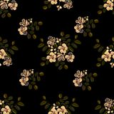 Seamless pattern,Graphic design, Cassia flower in abstract style on black background. For fabric.paper Stock Photography