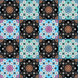 Seamless pattern graphic ornament. Floral stylish background. Pa Stock Photos