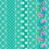 Seamless pattern graphic ornament. Floral stylish background. Re Stock Images