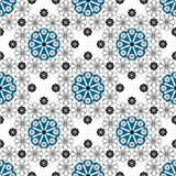 Seamless pattern graphic ornament. Floral stylish background. Re Stock Photos