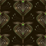 Seamless pattern graphic ornament. Floral stylish background. Ve Stock Photography