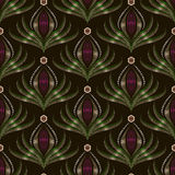 Seamless pattern graphic ornament. Floral stylish background Stock Images