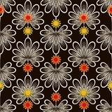 Seamless pattern graphic ornament. Floral stylish background wit Royalty Free Stock Image