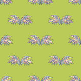 Seamless pattern of grass bushes Stock Image