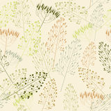 Seamless pattern with grass Stock Photos