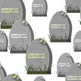 Seamless pattern grave cemetery with a spider web spider autumn Royalty Free Stock Photo