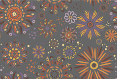 Seamless pattern on a gray background. Stock Images