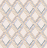 Seamless pattern with gray and beige diamonds Royalty Free Stock Photo