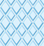 Seamless pattern with gray and blue diamonds Stock Photos