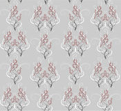 Seamless pattern of gray branches Stock Images