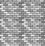 Seamless pattern of gray brick with cracks and irregularities Stock Photography