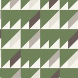 Seamless pattern in gray brown white green colors. Geometrical forms: triangle square rectangle. Vector illustration Royalty Free Stock Photos
