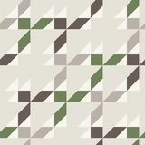 Seamless pattern in gray brown white green colors. Geometrical forms: triangle square rectangle. Vector illustration Stock Image