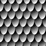 Seamless pattern gray chain mail dragon scales. Simple background for design stock illustration