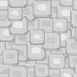 Seamless Pattern with Gray Computer Keys Stock Image