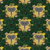 Seamless pattern with a gray elephant vector illustration