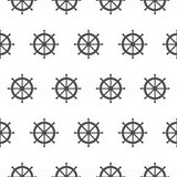 Seamless pattern with gray rudders. Nautical theme Royalty Free Stock Image