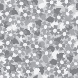 Seamless pattern of gray tone flower background Royalty Free Stock Images