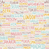 Seamless pattern -  greatest world cities. Capitals background Stock Images