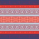 Seamless pattern with Greek pattern Royalty Free Stock Photo