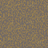 Seamless pattern with greel letters on the wall Stock Image