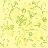 Seamless pattern with green abstract flowers Royalty Free Stock Photography