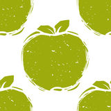 Seamless pattern of green apple sketch Royalty Free Stock Photos
