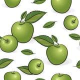 Seamless pattern - Green apples Royalty Free Stock Photo