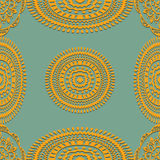 Seamless pattern on green background Stock Photos