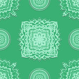 Seamless pattern on green background Stock Photography