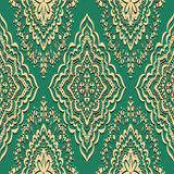 Seamless pattern on green background Royalty Free Stock Photo