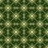 Seamless pattern on green background Royalty Free Stock Image