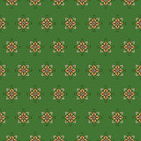 Seamless pattern on a green background Royalty Free Stock Photos