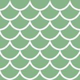 Seamless pattern on green background vector illustration. Seamless pattern white fish scale texture on green background cartoon style vector illustration Royalty Free Stock Photo