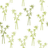 Seamless pattern with green bamboo. Vector pattern for cushion, pillow, bandanna, kerchief, shawl fabric print. Texture for clothe. S and bedclothes Stock Photography