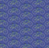Seamless pattern green bikes Stock Photos