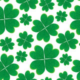 Seamless pattern with green clover leaves. Stock Photography
