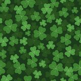 Seamless pattern with green clovers Stock Image