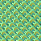 Seamless pattern of green dragon scale. Reptile skin Stock Photography