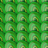 Seamless pattern of green eggs with peas Stock Image