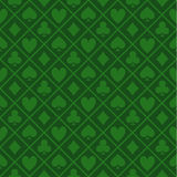 Seamless Pattern Of Green Fabric Poker Table Stock Photography