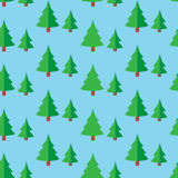 Seamless pattern with green fir trees. Christmas trees seamless pattern Vector illustration Royalty Free Stock Image