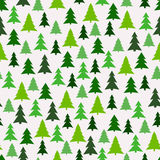 Seamless pattern with green fir-trees. Stock Image