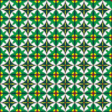 Seamless pattern green flowers. Stock Photography