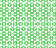 Seamless pattern of green flowers Stock Photography