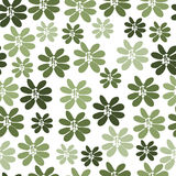 Seamless pattern with green flowers. For textiles, interior design, for book design, website background Stock Photography