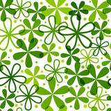 Seamless pattern with green flowers Stock Image
